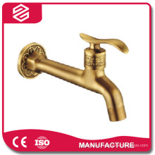 High quality antique brass garden wall mounted tap